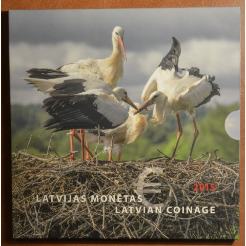 Latvia 2015 official set with 2 Euro commemorative coin (UNC)