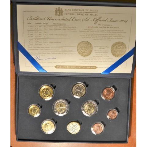 Set of 10 Euro coins - Malta 2014 wo mintmark (BU)