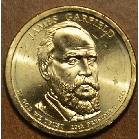 """1 dollar USA """"D"""" 2011 James A. Garfield (UNC)"""
