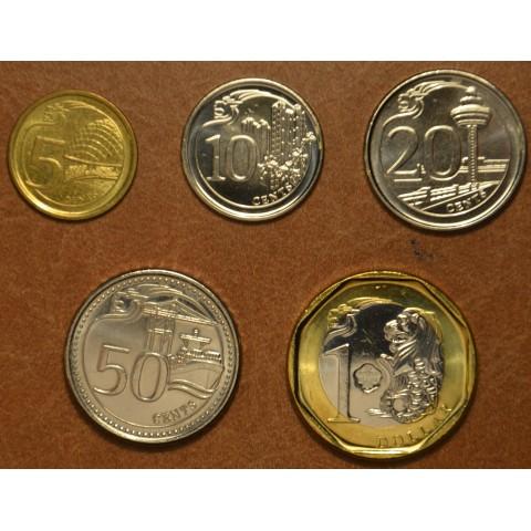 Singapore 5 coins 2013 Buildings (UNC)