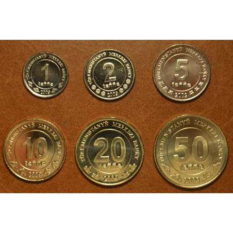 Turkmenistan 6 coins 2009 Monument of independence (UNC)