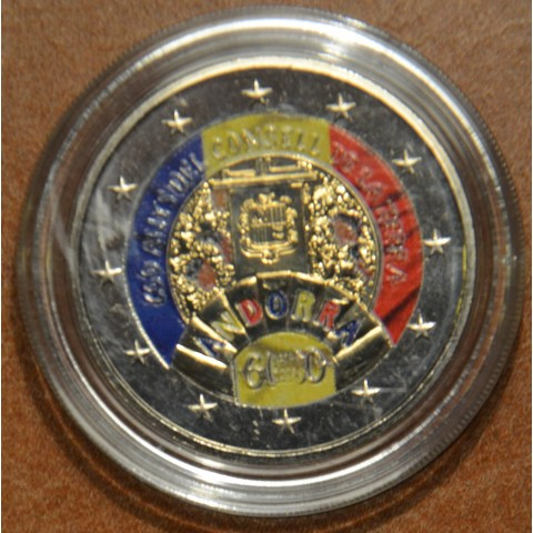 2 Euro Andorra 2019 - 600 years of the Council of the Land II. (colored UNC)