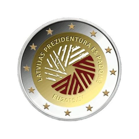 2 Euro Latvia 2014 - Latvian presidency of the EU (colored UNC)