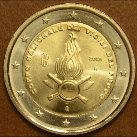 Damaged 2 Euro Italy 2020 - National Firefighters Corps (UNC)