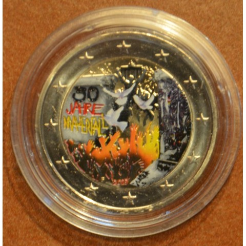 """2 Euro Germany """"A"""" 2019 - 30th Anniversary of the Fall of the Berlin Wall IV. (colored UNC)"""