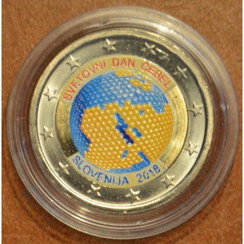 2 Euro Slovenia 2018 - World Day of Bees IV. (colored UNC)