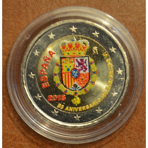 2 Euro Spain 2018 - Felipe VI. v IV. (colored UNC)