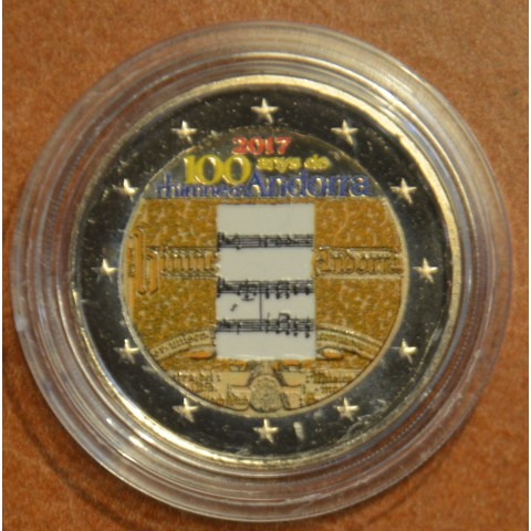 2 Euro Andorra 2017 - 100 years of the anthem II. (colored UNC)