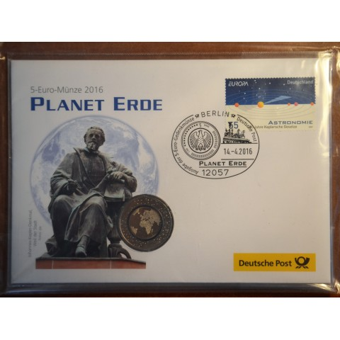 "5 Euro Germany ""F"" 2016 Planet Earth (UNC)"