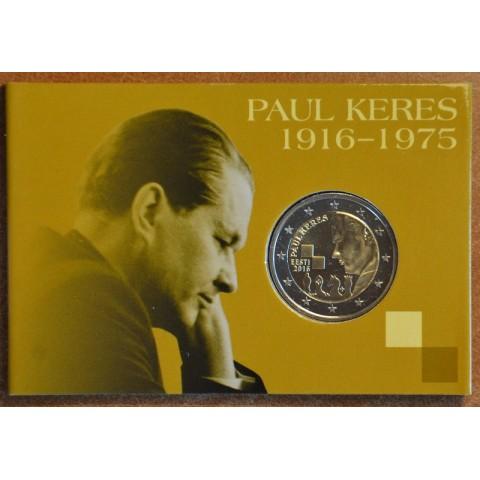 2 Euro Estonia 2016 - Paul Keres  (BU card)
