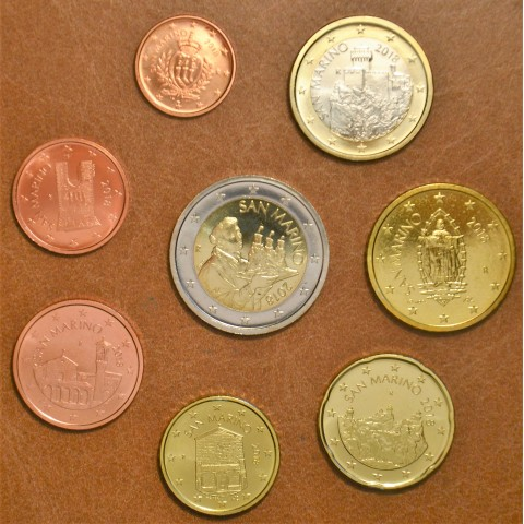 San Marino 2018 set with new design of coins (UNC)