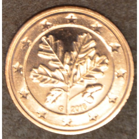 """2 cent Germany """"G"""" 2018 (UNC)"""