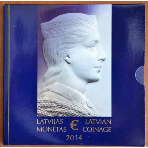 Latvia 2014 official set of Euro coins (BU)