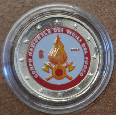 2 Euro Italy 2020 - National Firefighters Corps (colored UNC)