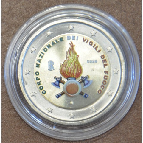 2 Euro Italy 2020 - National Firefighters Corps II. (colored UNC)