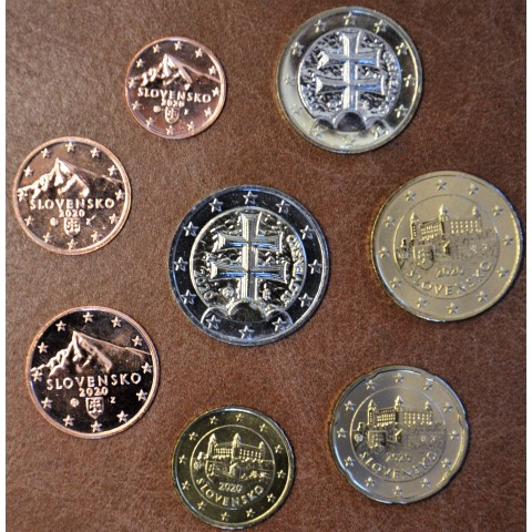 Set of Slovak coins 2020 (UNC)