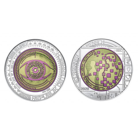 25 Euro Austria 2020 - silver niobium coin Big Data (UNC)