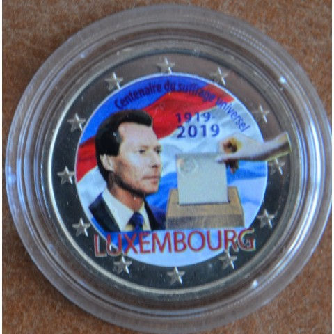 2 Euro Luxembourg 2019 - 100th anniversary of universal right to vote IV. (colored UNC)