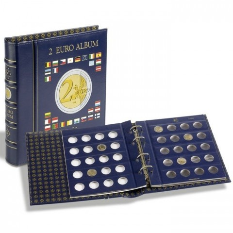 Leuchtturm Vista album for 2 Euro coins