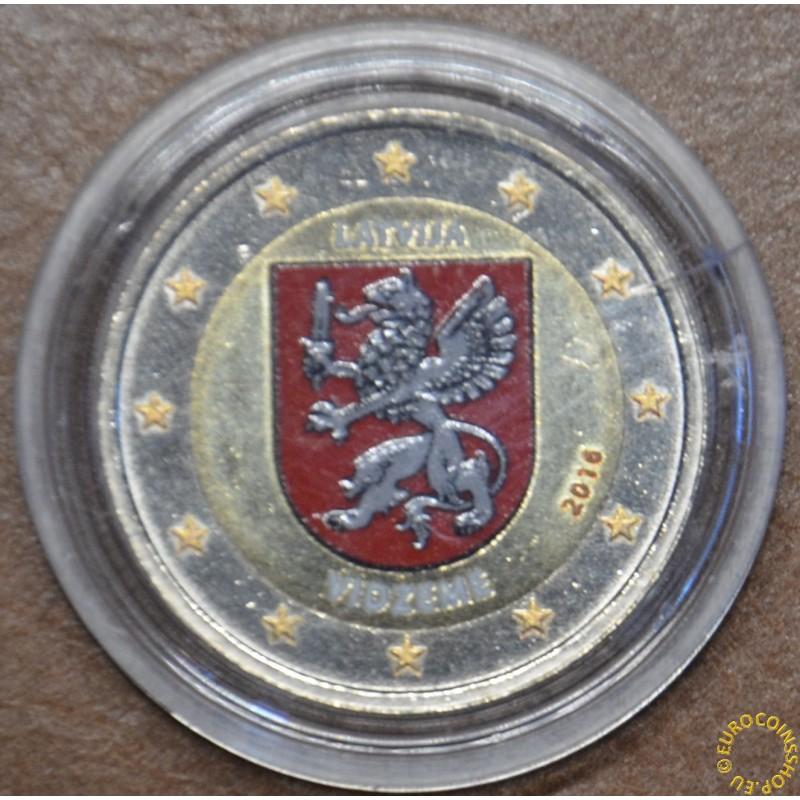 2 Euro Latvia 2016 - Vidzeme IV. (colored UNC)