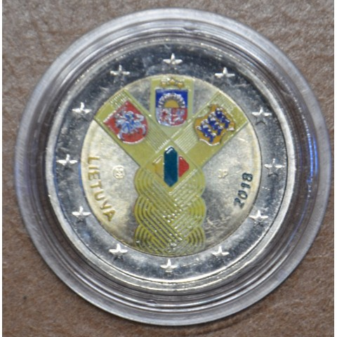 2 Euro Lithuania 2018 - Baltic Community Issue - 100 Years of Independence VI. (colored UNC)