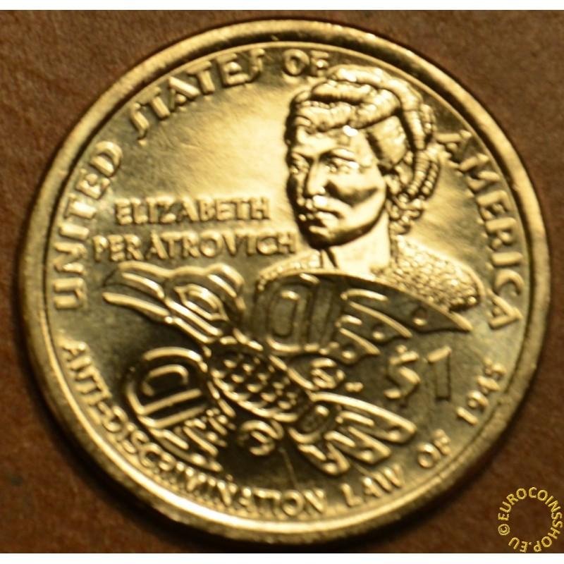 """1 dollar USA """"D"""" 2020 Elisabeth Peratrovich (UNC)"""