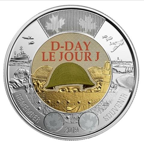 Canada 2 dollar 2019 D-Day (UNC)