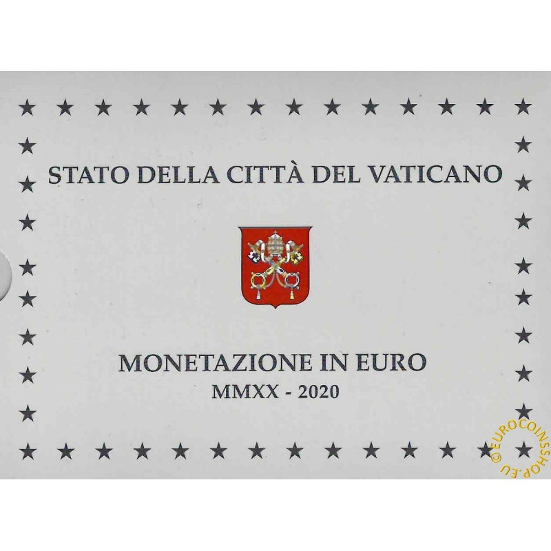 Official 8 coins set of Vatican 2020 + 20 Euro Ag coin (Proof)