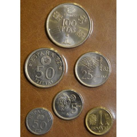 Spain 6 coins 1980 Mundial '82 (UNC)