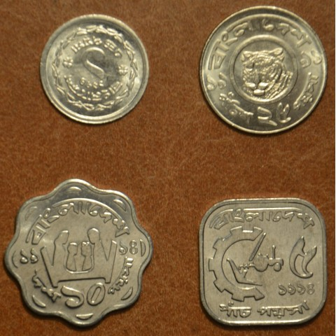 Bangladesh 4 coins mix of years (UNC)
