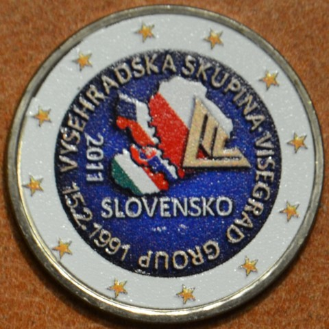 2 Euro Slovakia 2011 - 20th anniversary of the formation of the Visegrad Group IV. (colored UNC)