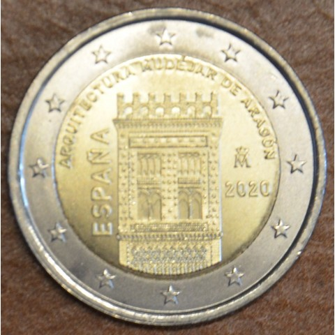 2 Euro Spain 2020 - Mudéjar Architecture of Aragon (UNC)