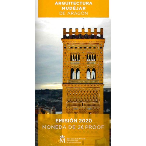 2 Euro Spain 2020 - Mudéjar Architecture of Aragon (Proof)