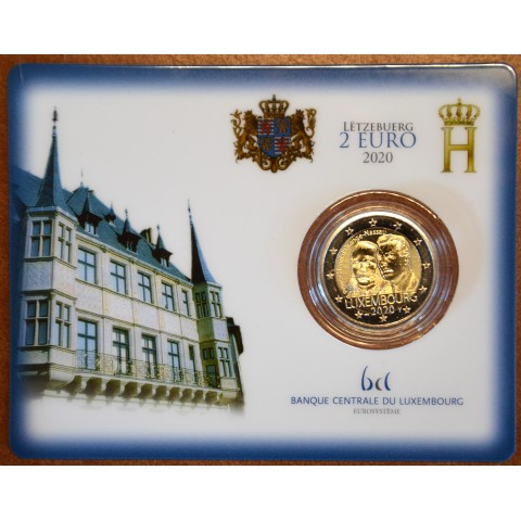 "2 Euro Luxembourg 2019 with mintmark ""bridge"" -  Prince Henry d'Orange-Nassau (BU)"