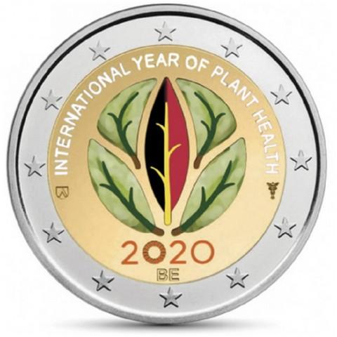 2 Euro Belgium 2020 -  International Year of Plant Health (colored UNC)