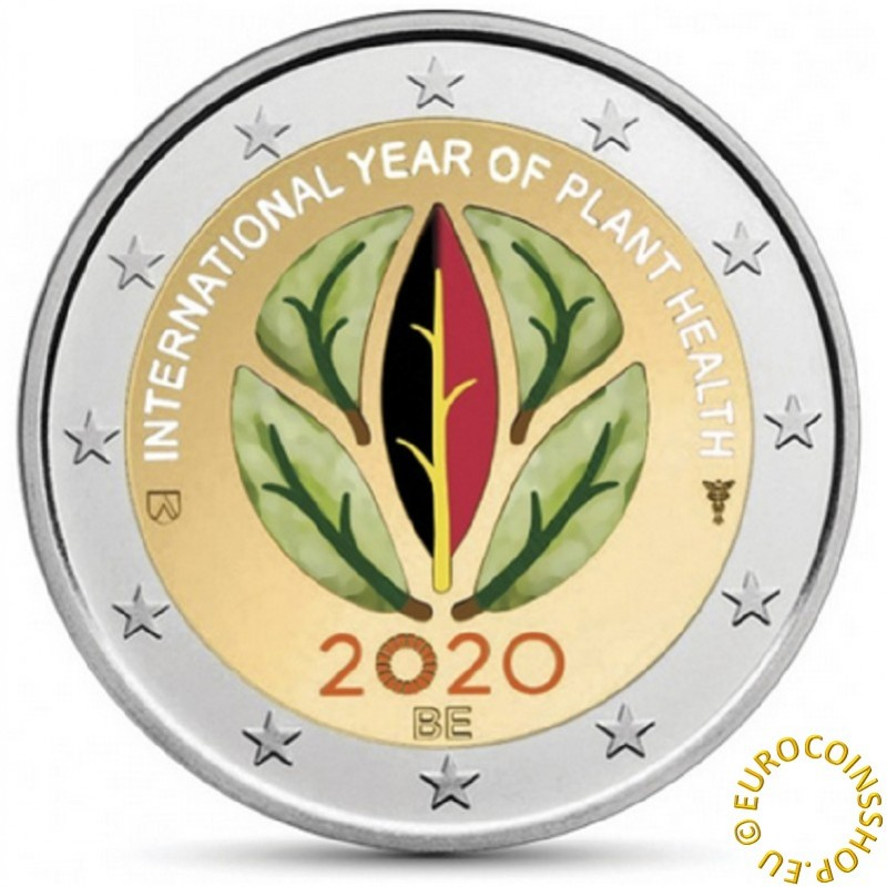 2 Euro Belgium 2020 -  International Year of Plant Health (UNC)