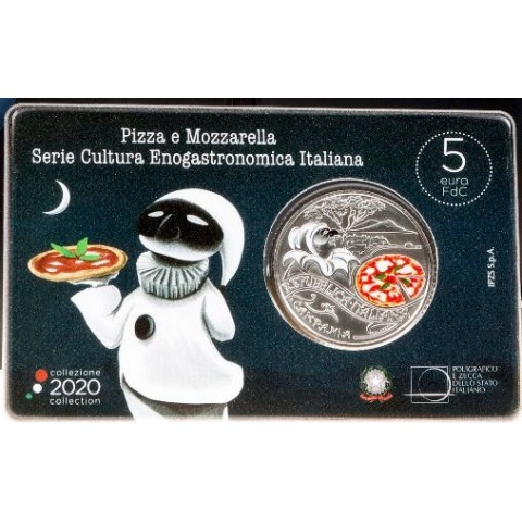 5 Euro Italy 2020 - 2020 Pizza and Mozzarella (BU)