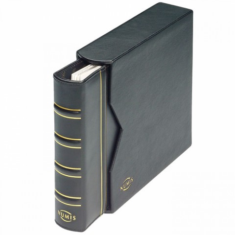Black leather Leuchtturm NUMIS album