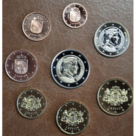 Latvia 2020 set of 8 eurocoins (UNC)