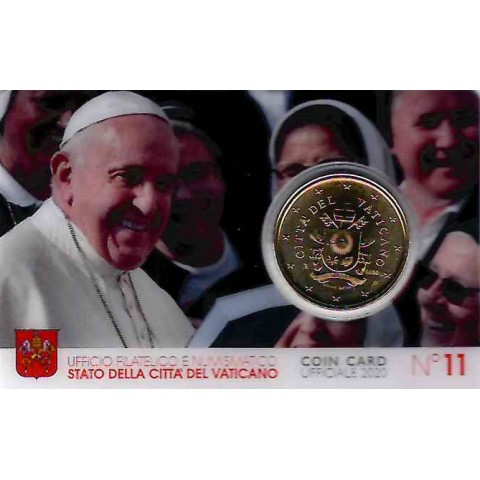 50 cent Vatican 2020 official coin card No. 11 (BU)