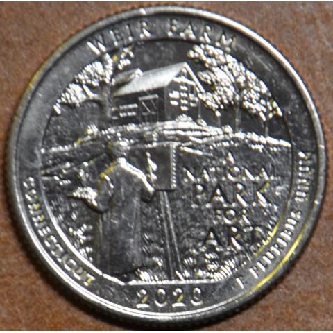"""25 cent USA 2020 Weir Farm """"S"""" (UNC)"""
