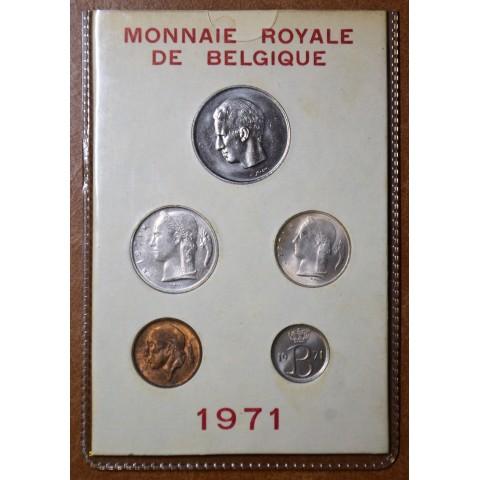 Belgium 1971 set of 5 francs coins (UNC)