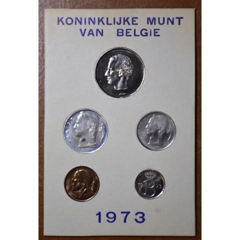 Belgium 1973 set of 5 francs coins (UNC)