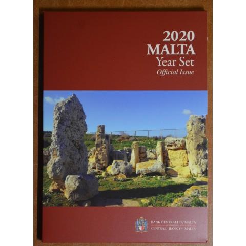 "Set of 9 Euro coins - Malta 2020 incl. commemorative 2 Euro with mintmark ""F"" (BU)"