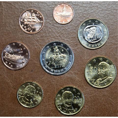 Set of 8 eurocoins Greece 2020 (UNC)