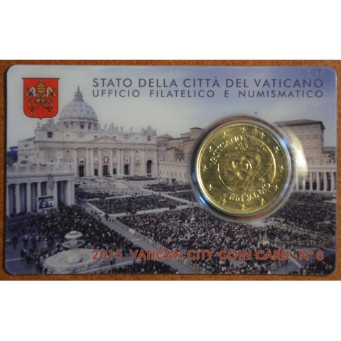 50 cent Vatican 2015 official coin card No. 6 (BU)