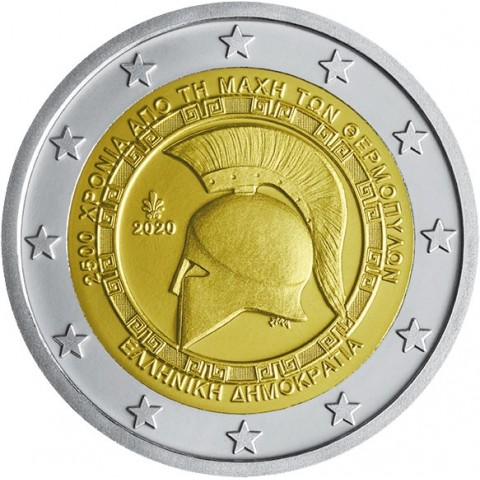 2 Euro Greece 2020 - Battle of Thermopylae (UNC)