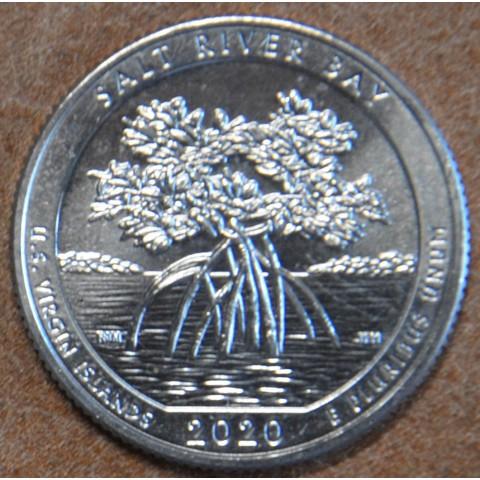 """25 cent USA 2020 Salt river bay """"S"""" (UNC)"""