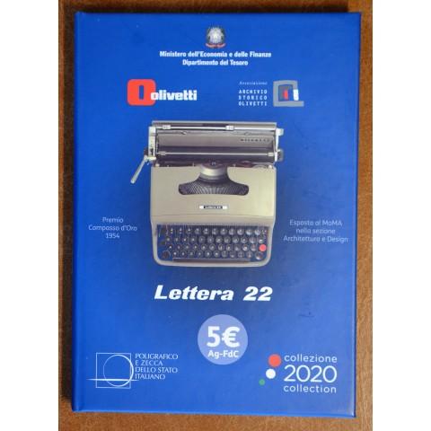 3x 5 Euro Italy 2020 - Olivetti Lettera 22 (BU)