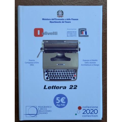 5 Euro Italy 2020 - White Olivetti Lettera 22 (BU)